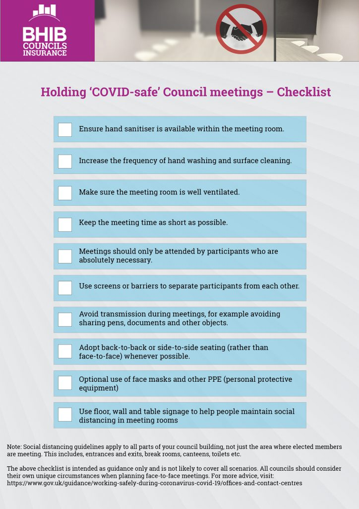 Checklist - Holding COVID-safe council meetings